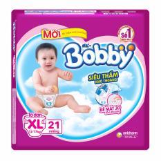 Bán Bỉm Ta Dan Bobby Size Xl Sieu Nhỏ 21 Miếng Cho Be 12 17Kg Rẻ