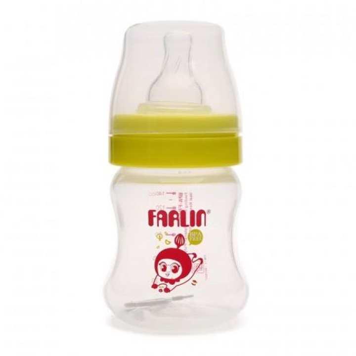 Bình sữa bằng nhựa cổ rộng Farlin 140ml