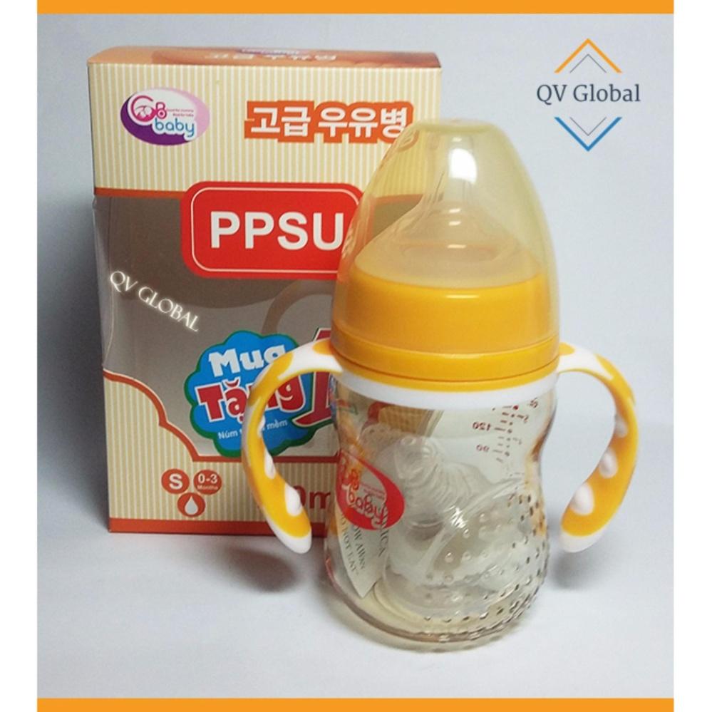 Bình Sữa Nhựa Ppsu Gb-Baby 180Ml Hàn Quốc Có Tay Cầm