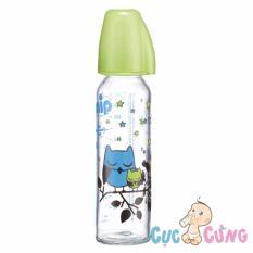 Giá Bán Binh Sữa Nip Thủy Tinh Cổ Thường Ty Silicone 250Ml Xanh Rẻ Nhất