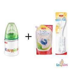 Mua Binh Sữa Nuk Nhựa Cổ Rộng 150Ml Silicone Xanh La 1 Bịch Nước Rửa Binh Sữa Nuk Bịch 500Ml Cọ Rửa Binh Sữa Nuk Rẻ Trong Hồ Chí Minh