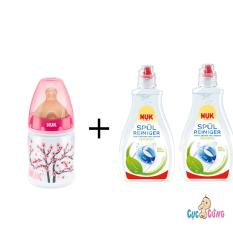 Mua Binh Sữa Nuk Nhựa Cổ Rộng 150Ml Ty Cao Su Hồng 2 Chai Nước Rửa Binh Sữa Nuk 380Ml Mới Nhất