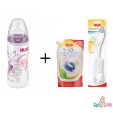 Giá Bán Binh Sữa Nuk Nhựa Cổ Rộng 300Ml Silicone Tim 1 Bịch Nước Rửa Binh Sữa Nuk Bịch 500Ml Cọ Rửa Binh Sữa Nuk Có Thương Hiệu