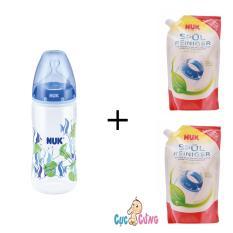 Mua Binh Sữa Nuk Nhựa Cổ Rộng 300Ml Silicone Xanh Dương 2 Bịch Nước Rửa Binh Sữa Nuk Bịch 500Ml Nuk Trực Tuyến
