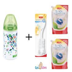 Cửa Hàng Binh Sữa Nuk Nhựa Cổ Rộng 300Ml Silicone Xanh La 2 Bịch Nước Rửa Binh Sữa Nuk Bịch 500Ml Cọ Rửa Binh Sữa Nuk Hồ Chí Minh