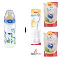 Cửa Hàng Binh Sữa Nuk Nhựa Cổ Rộng 300Ml Ty Cao Su Xanh Dương 2 Bịch Nước Rửa Binh Sữa Nuk Bịch 500Ml Cọ Rửa Binh Sữa Nuk Trực Tuyến