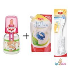Bán Mua Binh Sữa Nuk Thủy Tinh Cổ Thường 120Ml Ty Cao Su Hồng 1 Bịch Nước Rửa Binh Sữa Nuk Bịch 500Ml Cọ Rửa Binh Sữa Nuk Mới Hồ Chí Minh