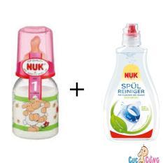 Mua Binh Sữa Nuk Thủy Tinh Cổ Thường 120Ml Ty Cao Su Hồng 1 Chai Nước Rửa Binh Sữa Nuk 380Ml Trực Tuyến Rẻ
