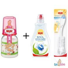 Giá Bán Binh Sữa Nuk Thủy Tinh Cổ Thường 120Ml Ty Cao Su Hồng 1 Chai Nước Rửa Binh Sữa Nuk 380Ml Cọ Rửa Binh Sữa Nuk Trực Tuyến Hồ Chí Minh