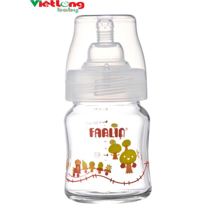 Bình sữa thủy tinh cổ rộng 120CC Farlin ABB.B001.12