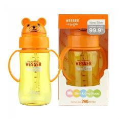 Giá Bán Binh Tập Uống Nước Wesser Gấu 260Ml Co Ống Hut Tốt Nhất