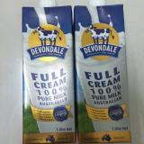Bán Bộ 02 Hộp Sữa Tươi Nguyen Kem Devondale 1Lit Devondale Nguyên