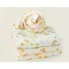 Bộ 1 Khăn tắm xô 4 lớp và Bộ 10 khăn sữa 2 lớp in họa tiết cho bé