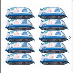 Bộ 10 gói khăn ướt 100 tờ BABYMOMMY -Hàng Việt Nam