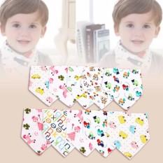 Bộ 10 khăn yếm tam giác 2 lớp cho bé