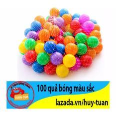 Hình ảnh Bộ 100 quả bóng nhựa nhiều màu sắc cho bé
