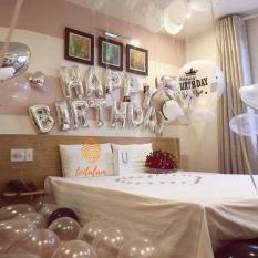 Hình ảnh Bộ 13 bóng chữ Happy Birthday trang trí sinh nhật