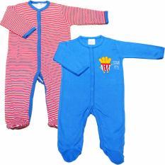 Giá Bán Bộ 2 Ao Liền Quần Liền Tất Be Trai Baby Gear Mau Sắc Ngẫu Nhien Nhãn Hiệu Baby Gear