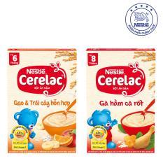 Giá Bán Bộ 2 Bột Ăn Dặm Nestle Cerelac Gạo Trai Cay Va Ga Hầm Ca Rốt Cerelac Mới