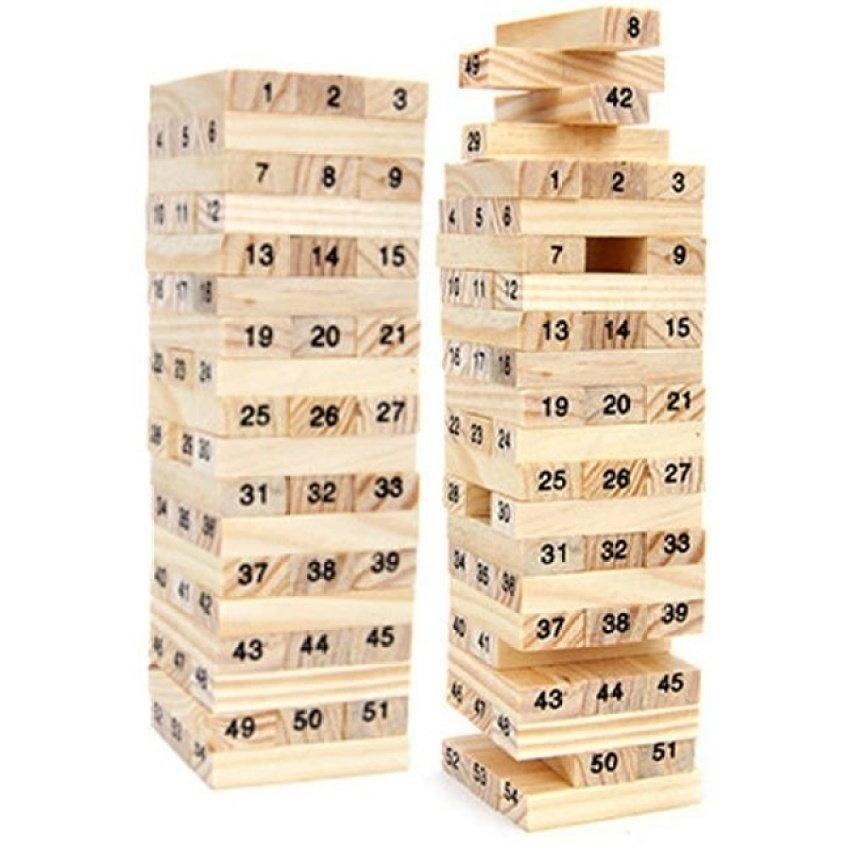 Hình ảnh Bộ 2 đồ chơi rút gỗ 54 thanh