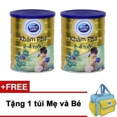 Bán Bộ 2 Sữa Bột Dutch Lady Kham Pha Gold 900G Tặng 1 Tui Mẹ Va Be Trực Tuyến