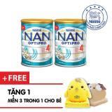 Bán Bộ 2 Sữa Bột Nestle Nan Optipro 4 900G Tặng 1 Bộ Gối Mền Cao Cấp Mau Ngẫu Nhien Rẻ