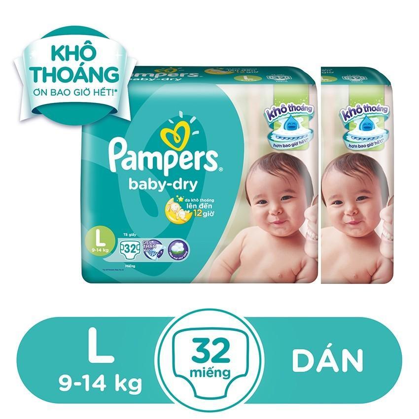 Mua Bộ 2 Ta Dan Pampers Tiết Kiệm L32 Pampers Nguyên