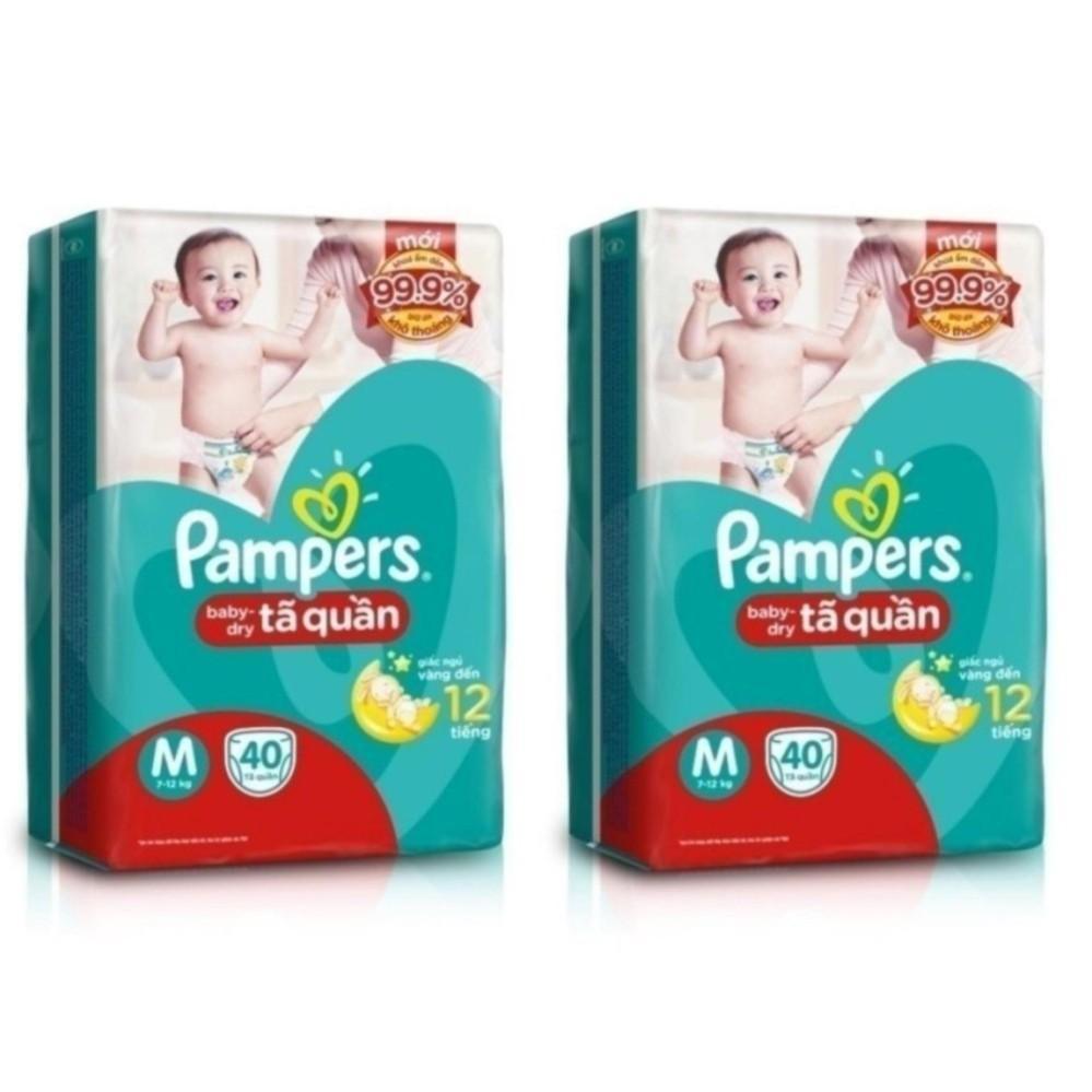 Giá Bán Bộ 2 Ta Quần Pampers Size M 40 Miếng Nhãn Hiệu Pampers