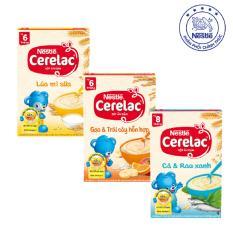 Giá Bán Bộ 3 Bột Ăn Dặm Nestle Cerelac Lua Mi Sữa Gạo Trai Cay Ca Rau Xanh Mới Nhất