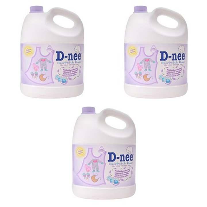 Bộ 3 dung dịch giặt xả quần áo D-nee Yellow...