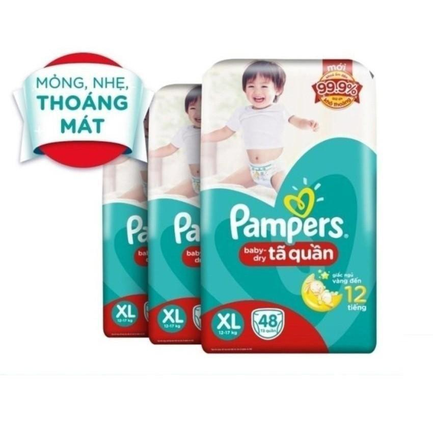 Bộ 3 Ta Quần Pampers Size Xl 48 Miếng 12 17Kg Pampers Chiết Khấu 40