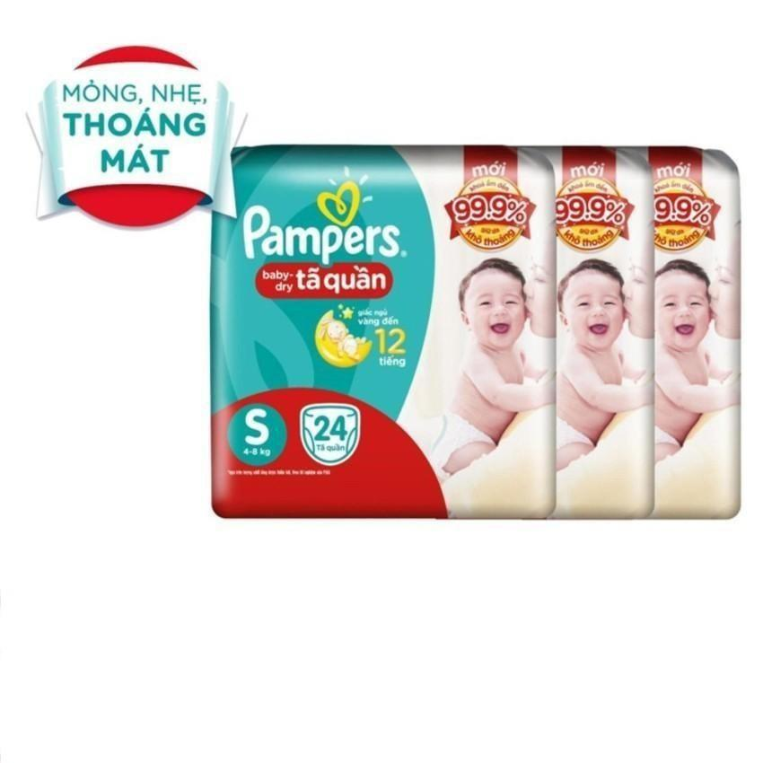 Giá Bán Bộ 3 Ta Quần Pampers Size S 24 Miếng 8Kg Pampers