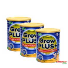 Ôn Tập Bộ 3 Hộp Sữa Nuti Grow Plus Xanh 900G