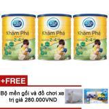 Giá Bán Bộ 3 Sữa Bột Dutch Lady Kham Pha Gold 1500G Tặng Bộ Mền Gối Va Đồ Chơi Xe Trị Gia 280 000Vnd Dutch Lady Mới