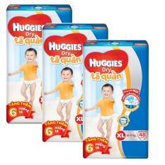 Giá Bán Bộ 3 Ta Quần Huggies Dry Pants Xl48 12 17Kg Tặng 6 Miếng Goi Mới Nhất