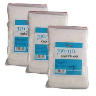 Bộ 3 túi khăn vải khô đa năng Mama 3 x 240 miếng thumbnail