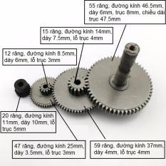 Hình ảnh [FREE SHIP TOÀN QUỐC] Bộ 4 bánh răng giảm tốc bằng thép dùng cho motor 775 chế xe điện, đồ chơi sáng tạo (DO129) - Luân Air Models