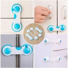 Bộ 4 khóa gài tủ lạnh, tủ đồ, ngăn kéo đa năng (Trắng) MLS60