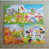 Bán Bộ 4 Miếng Thảm Xốp Mềm Lot San Hinh Tom Jerry Gau Pooh Chuột Mickey 60X60 1 Miếng Lan Vy