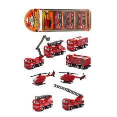 Hình ảnh Bộ 4 xe mô hình cứu hỏa cực yêu cho bé