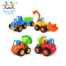 Bộ 4 Xe Xay Dựng Sieu Bền Huile Toys 326 Rẻ