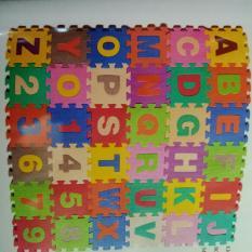 Hình ảnh Bộ 40 Miếng Thảm Xốp Mềm Lót Sàn gồm chữ cái và số đếm cho Bé