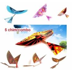Hình ảnh Bộ 5 chim tự vỗ cánh bay dây thun (màu ngẫu nhiên)