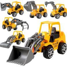 Hình ảnh Bộ 5 xe mô hình xây dựng cho bé MH shop 01 + Tặng đồ chơi máy bay phát sáng