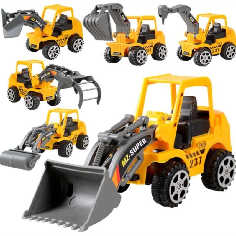 Bộ 7 xe mô hình xây dựng có quán tính