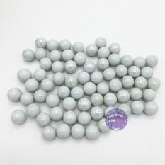 Hình ảnh Bộ 70 viên bi ve sứ màu trắng đục size 1.6 cm bằng thủy tinh