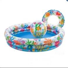 Hình ảnh Bộ bể bơi 3 tầng kèm phao và bóng cho bé