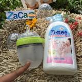Bán Bộ Binh Sữa Comotomo Silicone 150Ml Xanh Va Chai Nước Rửa Binh Sữa D Nee 500Ml Người Bán Sỉ