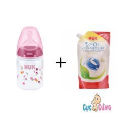 Bán Bộ Binh Sữa Nuk Nhựa Cổ Rộng 150Ml Hồng Va Nước Rửa Binh Sữa Nuk 500Ml Có Thương Hiệu