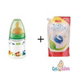 Giá Bán Bộ Binh Sữa Nuk Nhựa Cổ Rộng 150Ml Ty Cao Su Xanh La Va Nước Rửa Binh Sữa Nuk 500Ml Nuk Tốt Nhất